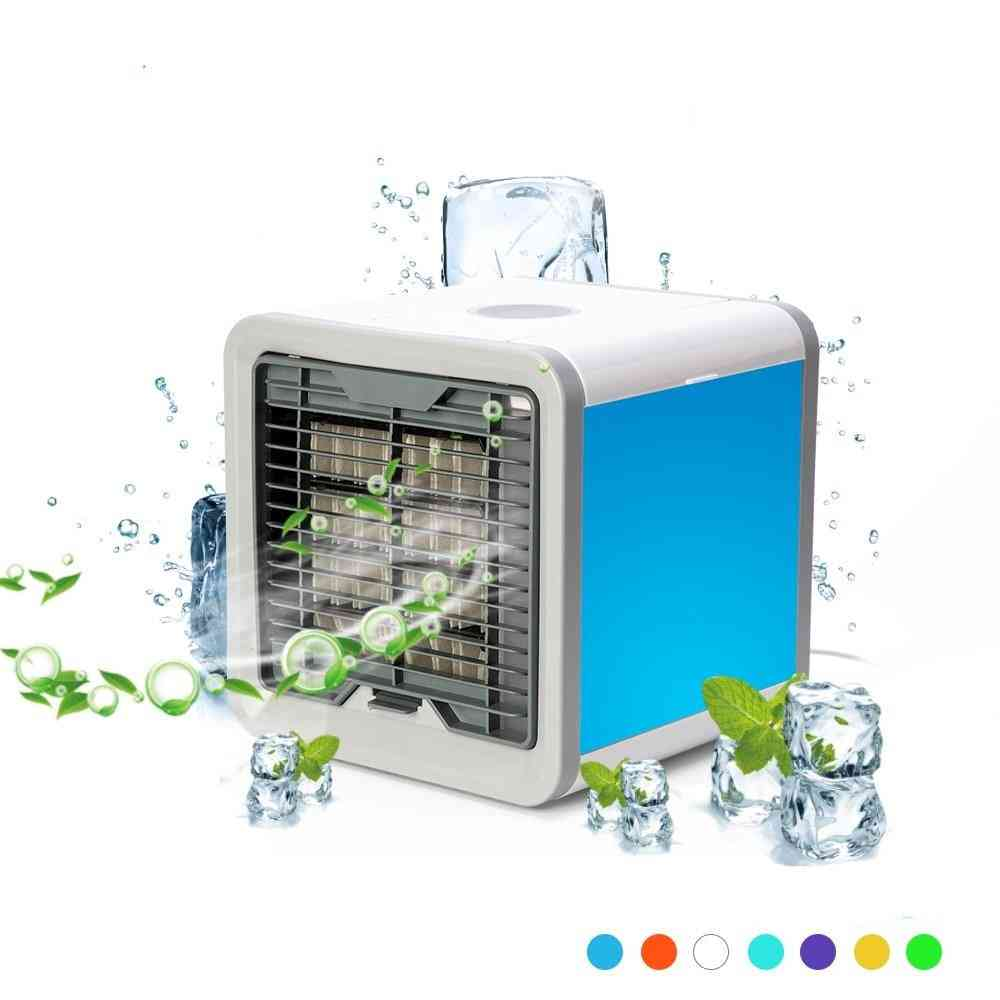 Portable Mini Humidifying Air Cooler With 7 Led Colors