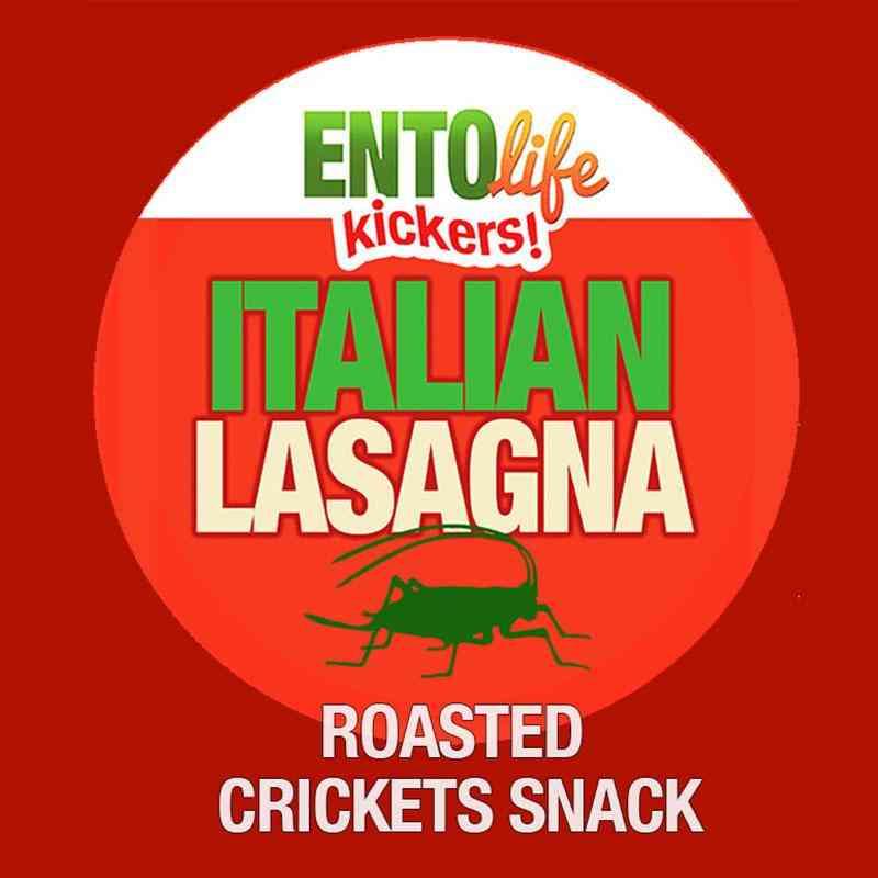 Mini-kickers Lasagna Flavored Cricket Snack