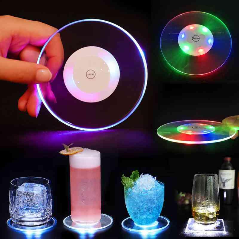 Acrylic Led Light Coaster Cocktail Flash Base