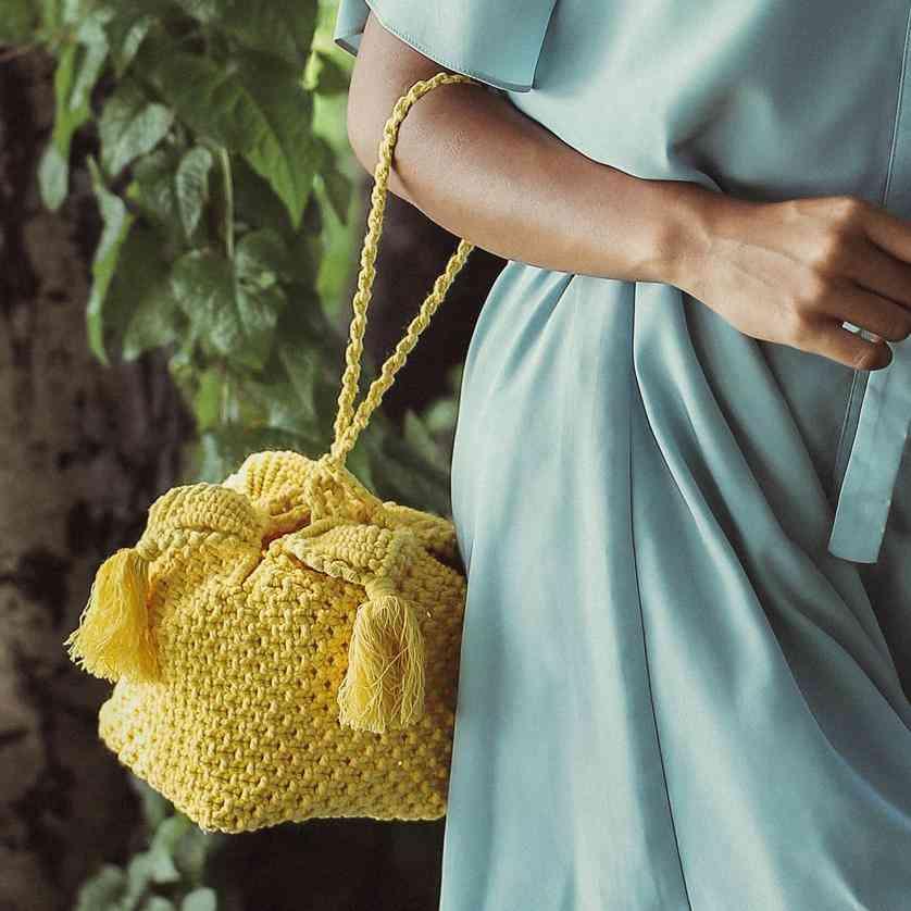 Hand-dyed Strap Handle Box Bag