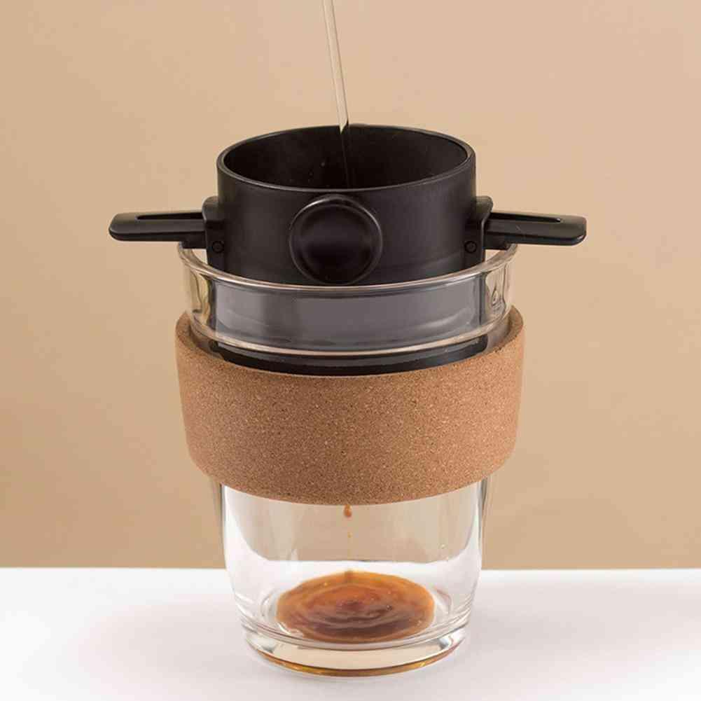 Foldable Reusable Coffee Filter Maker, Mesh Holder
