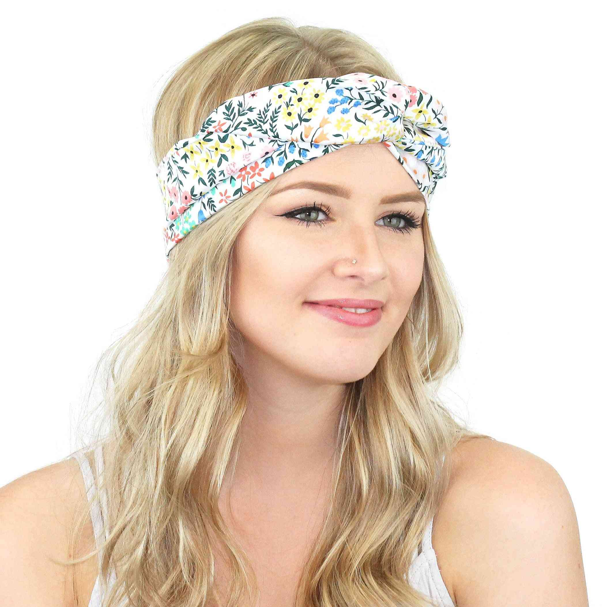 Printed Wrap Headband With Flexible Wire