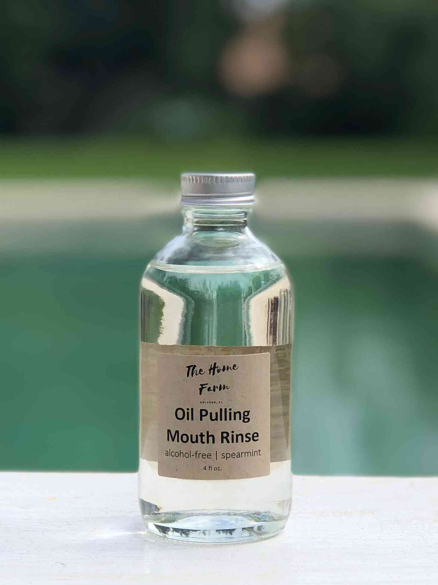 Spearmint Oil Pulling Mouthrinse