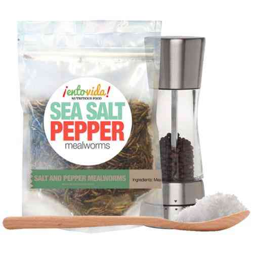 Sea Salt & Pepper Flavored-whole Roasted Mealworms