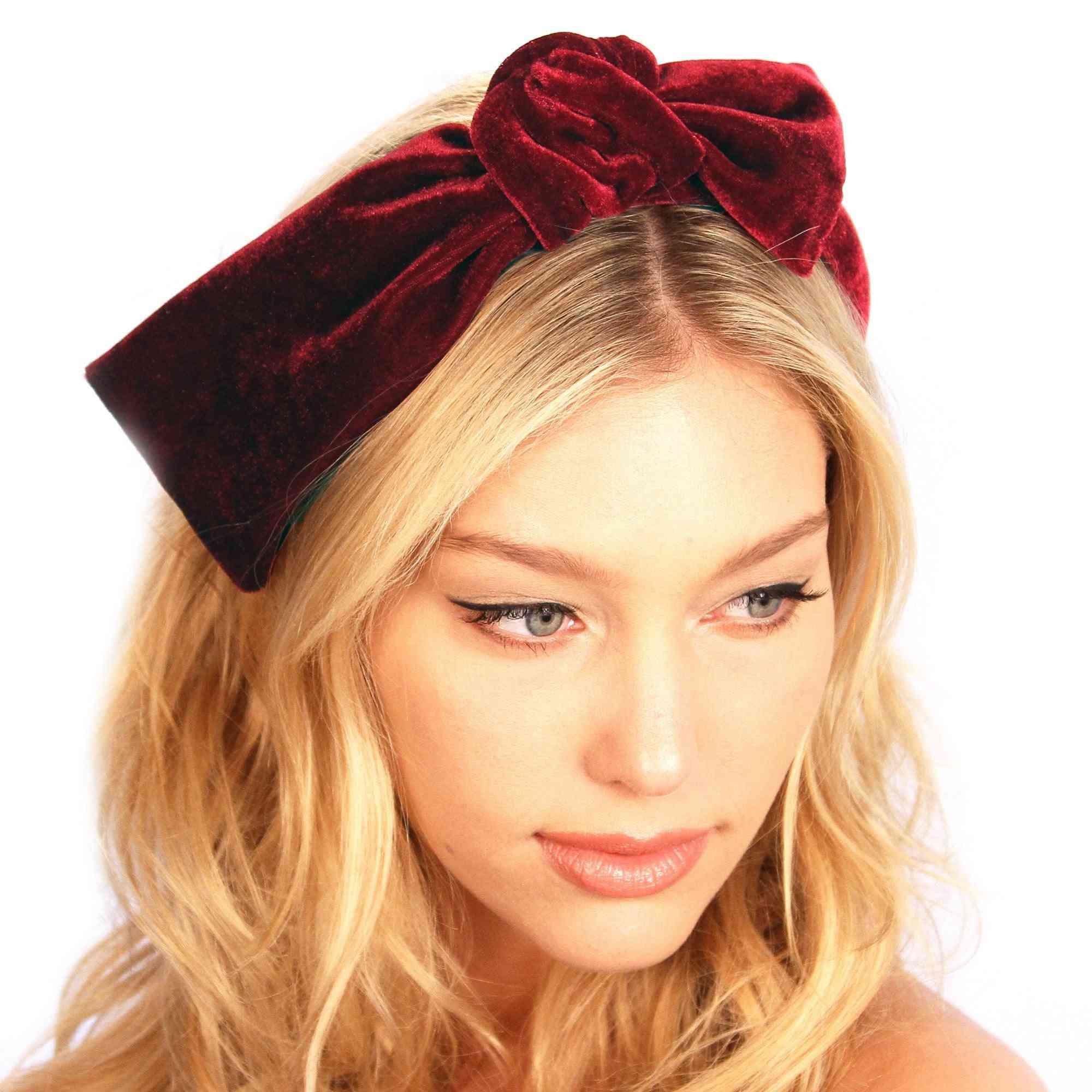 Classic Padded Plush Velvet Headband