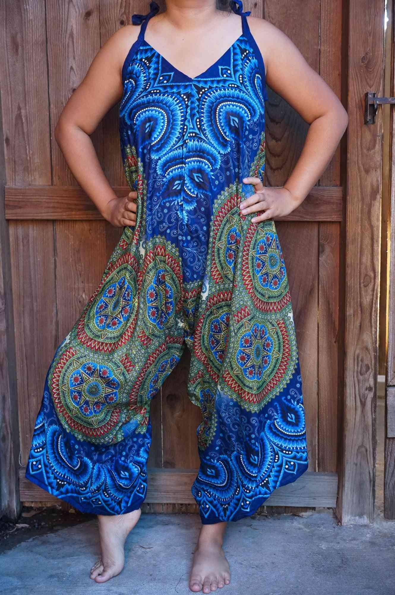 Mandala Print Boho Hippie Jumpsuit