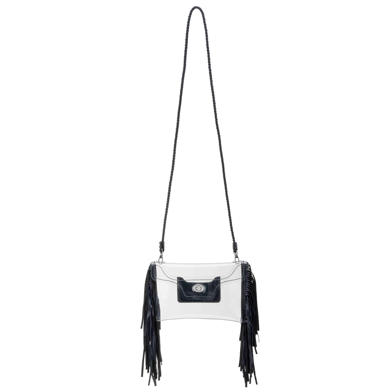 Clear Fringe Crossbody Bag, Leather Card Case