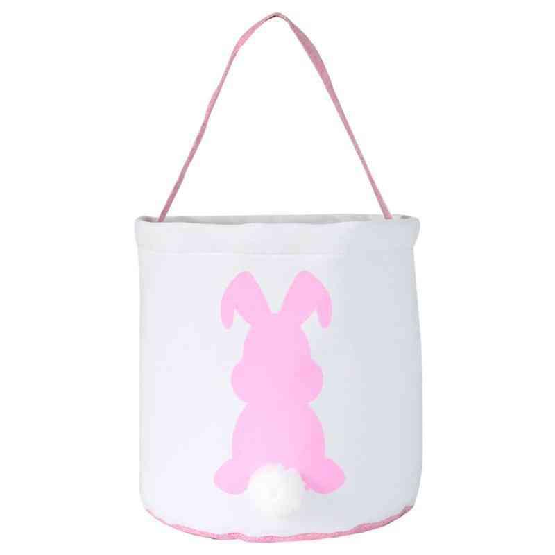 Canvas Bunny Basket Egg Tote