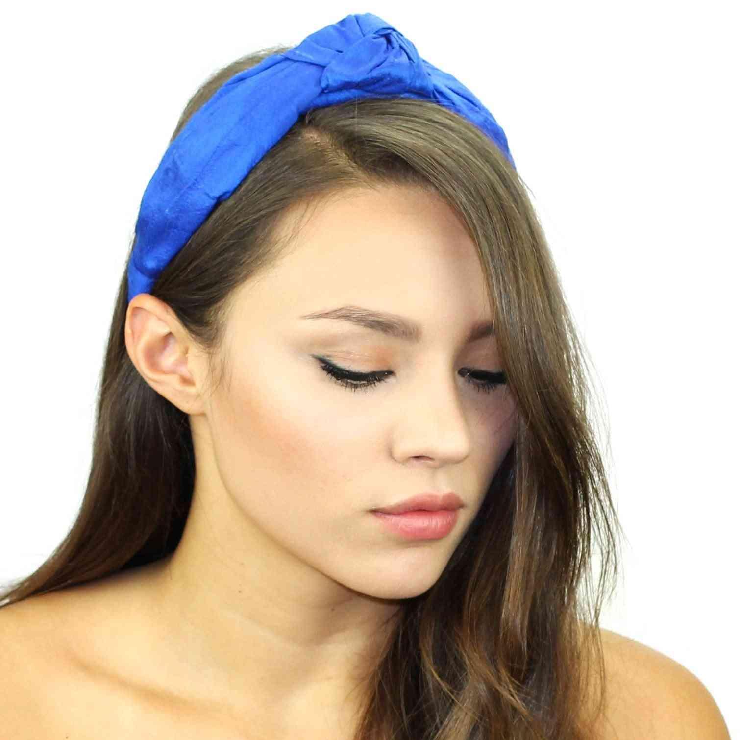 Silk Top Knot Padded Headband