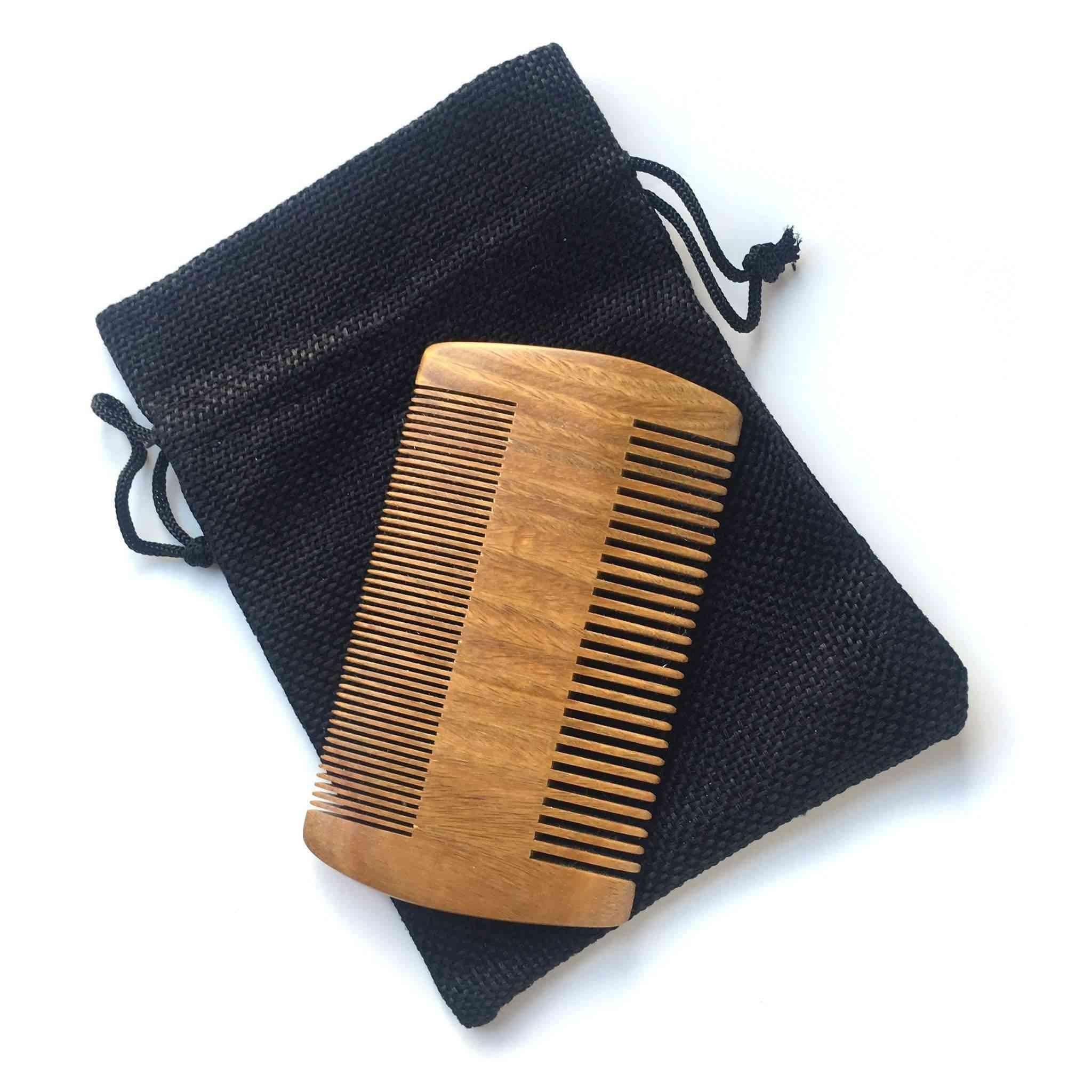 Handmade Natural Sandalwood Beard Comb