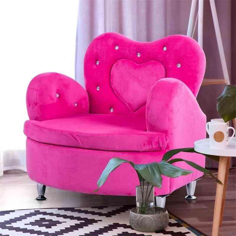 Soft Velvet Armrest  Kids Sofa