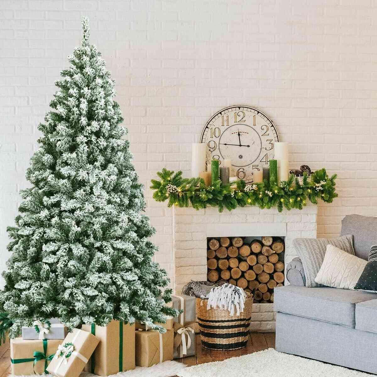 Snow Flocked Artificial Christmas Tree