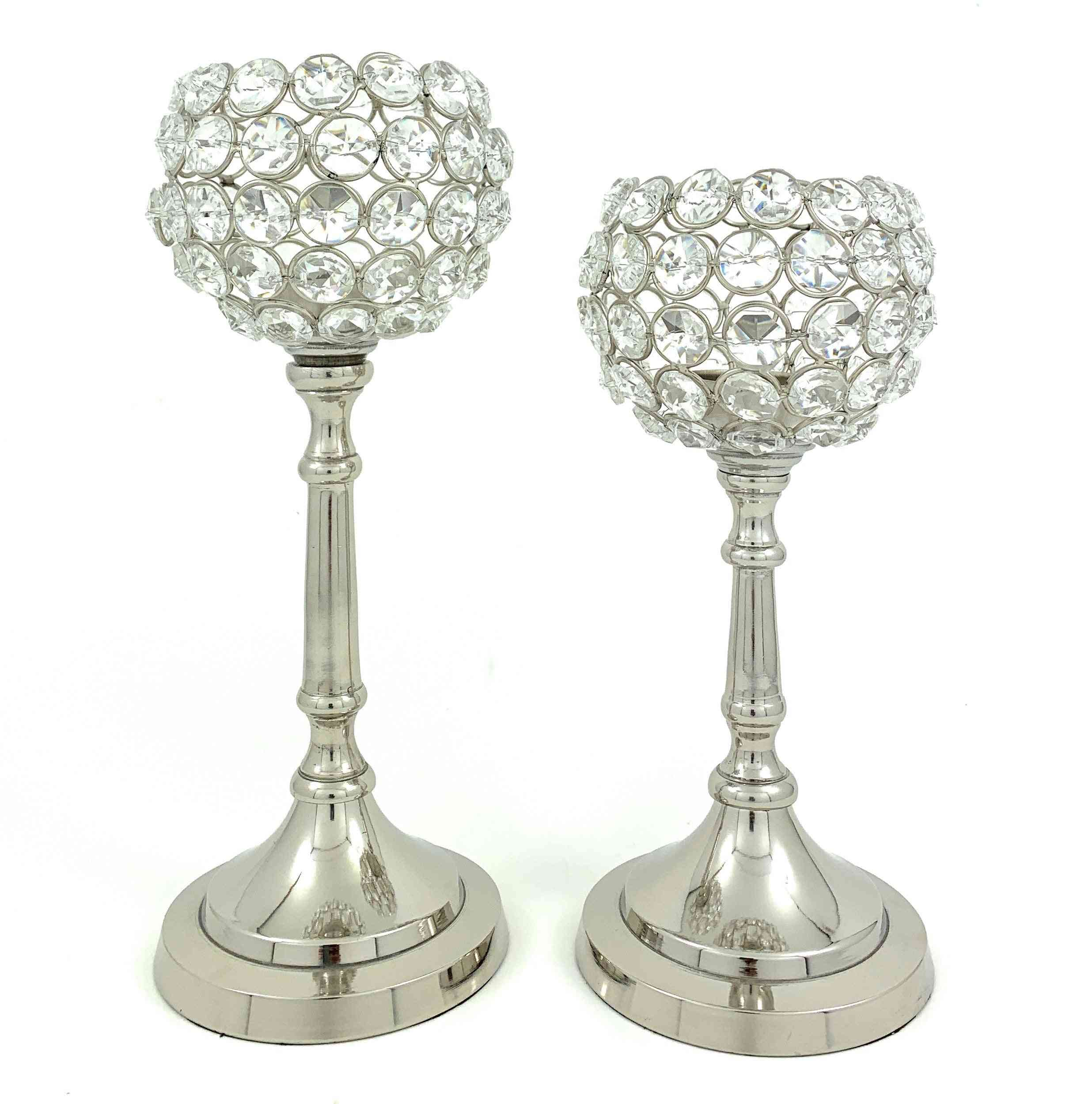 Crystal Candle Holder For Table Decor