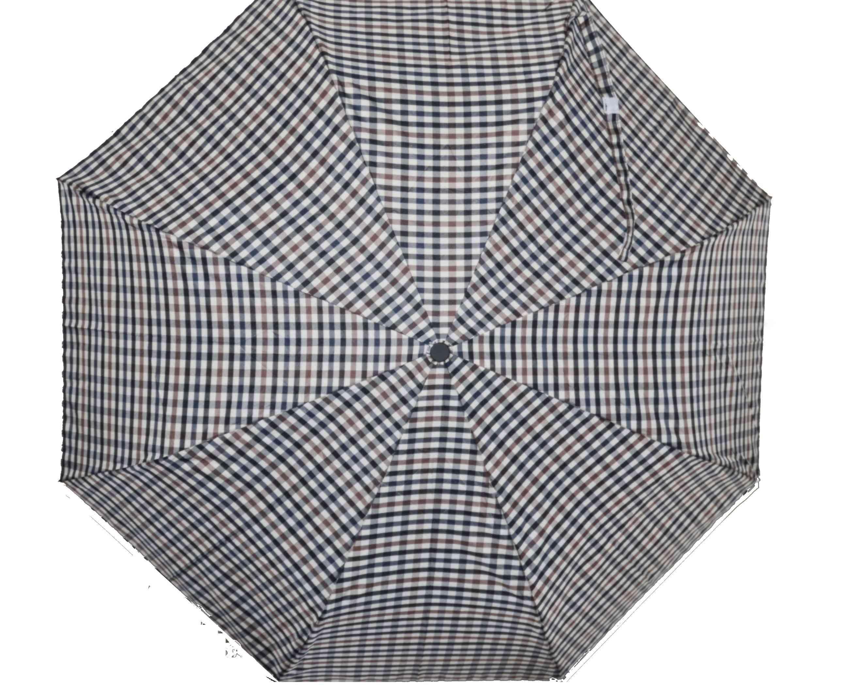Checked Automatic Open/close Umbrella