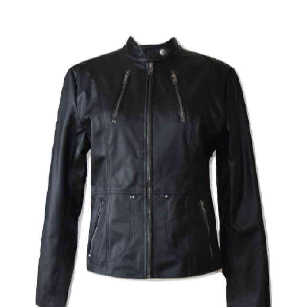 Eco-leather Casual Jacket