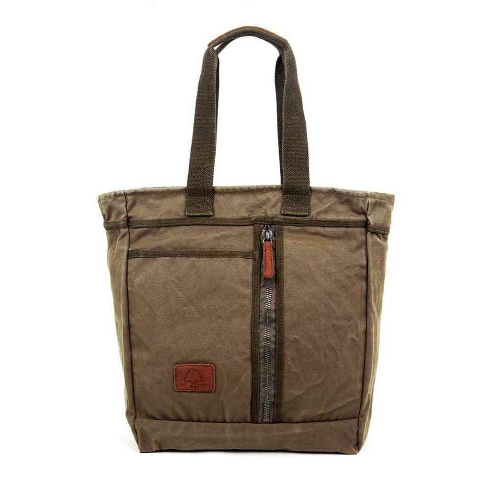 Military-inspired Forest Canvas Tote Bag