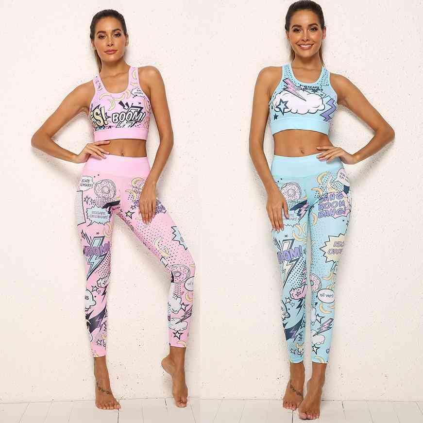Women Print Cartoon Banana Boom - Running / Yoga Suits Sportswear