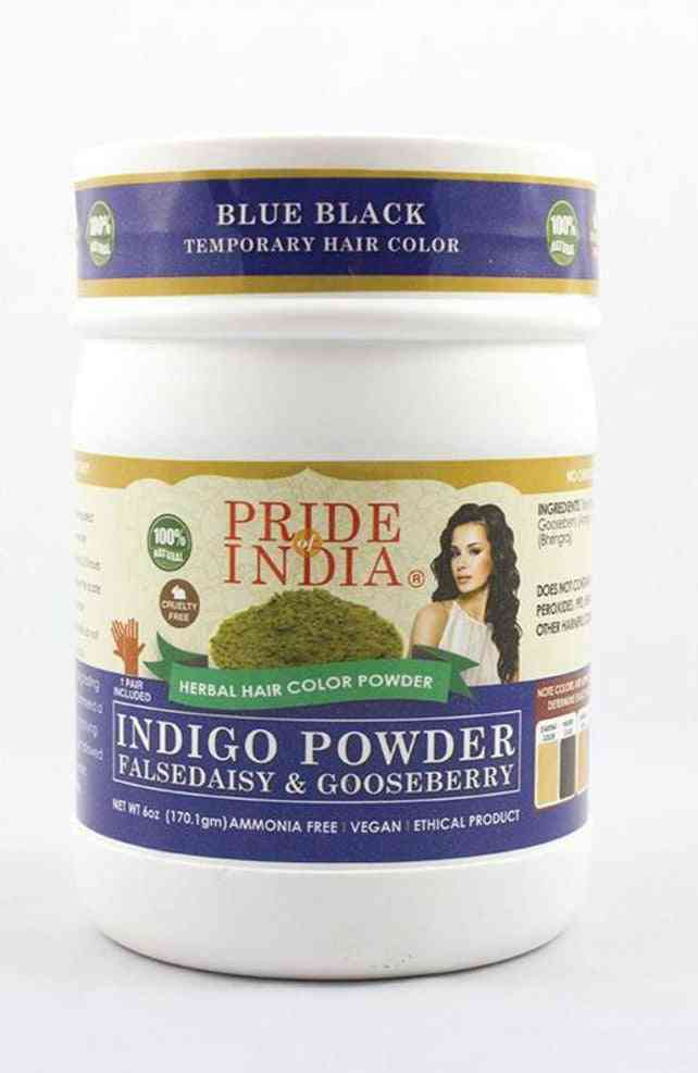170gm Herbal Hair Natural Blue / Black Color Powder
