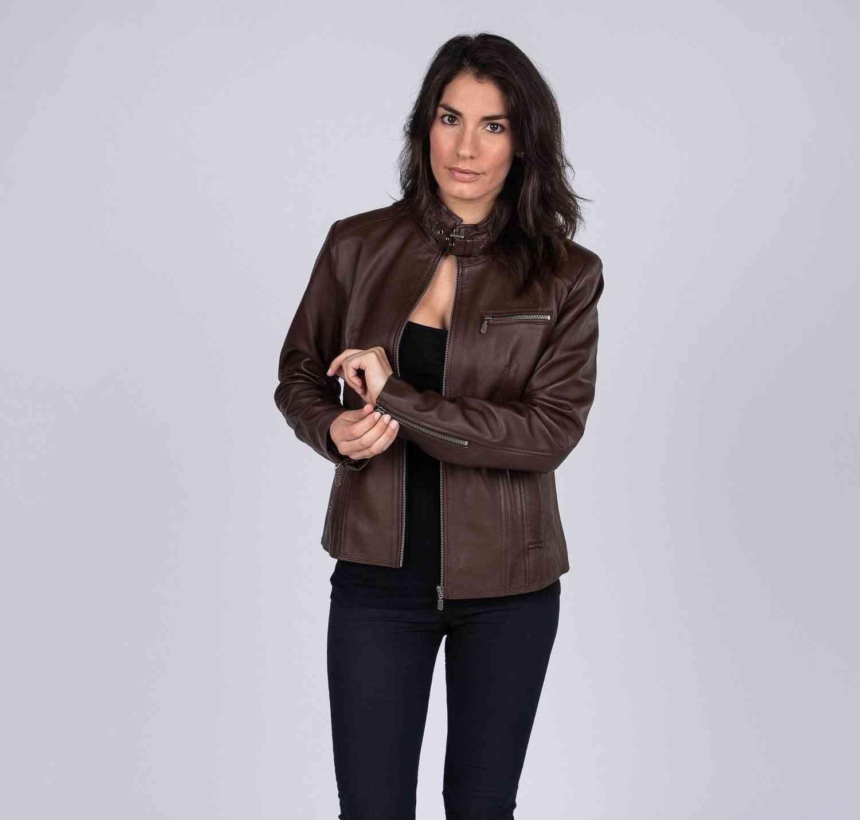 Womens Lambskin Leather Jacket