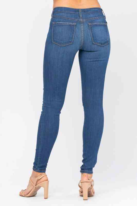 Distressed Rayon Skinny Jeans