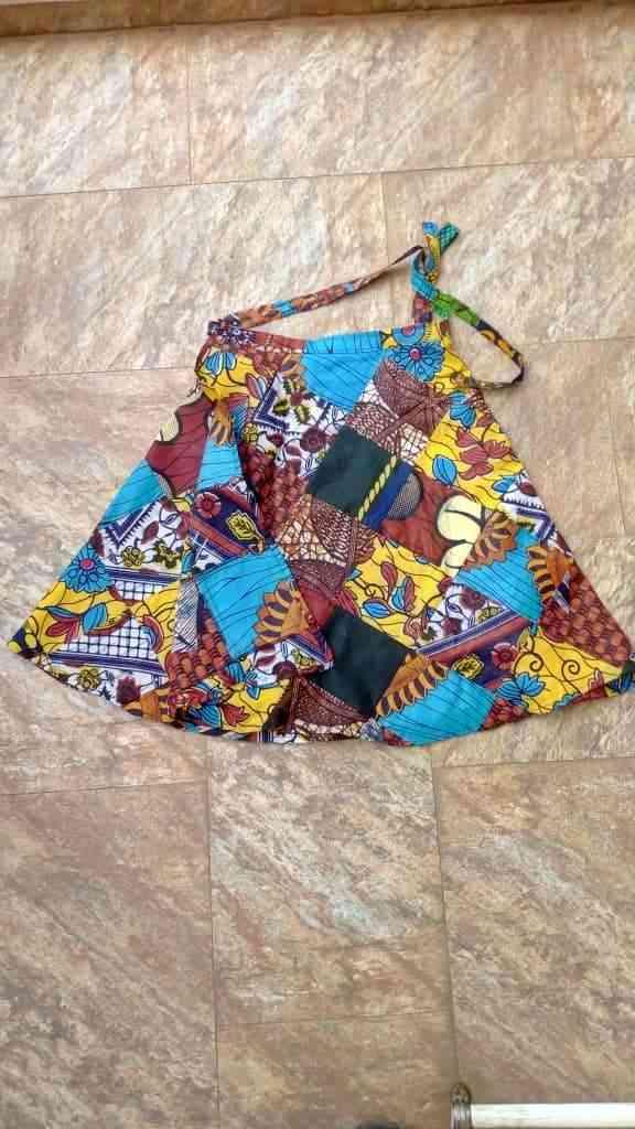 Mixed Print Mini Swing Skirt