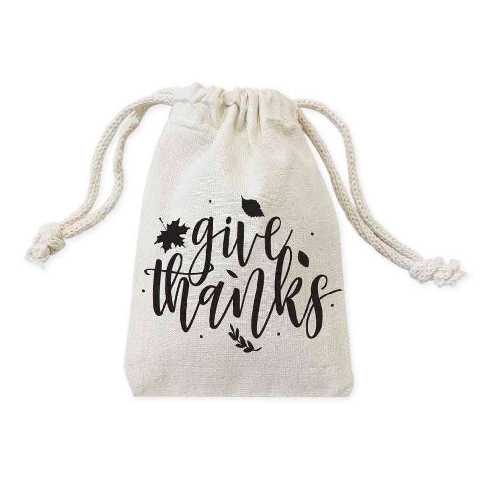 Give Thanks-drawstring Pouches