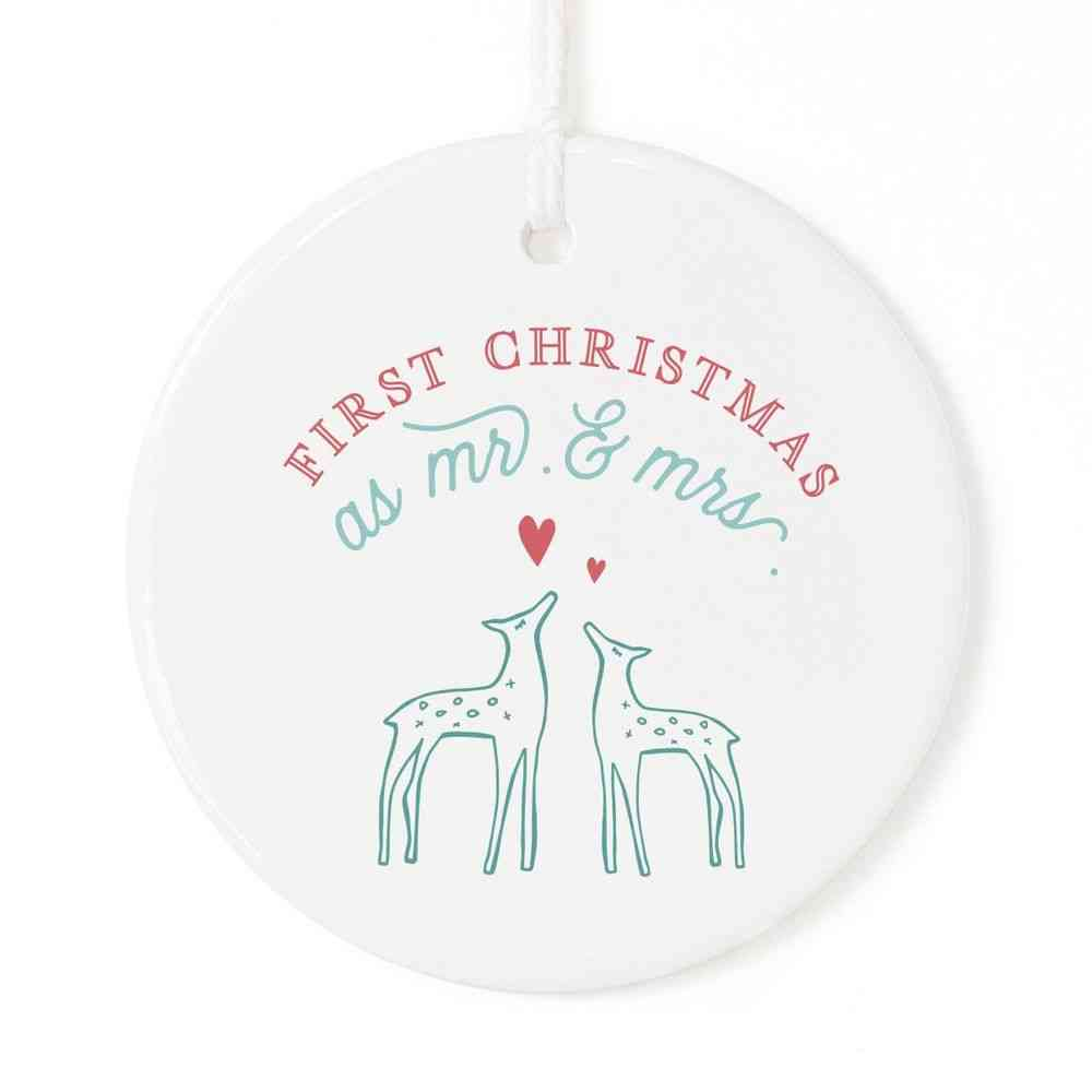 First Christmas As Mr. And Mrs.-ornament