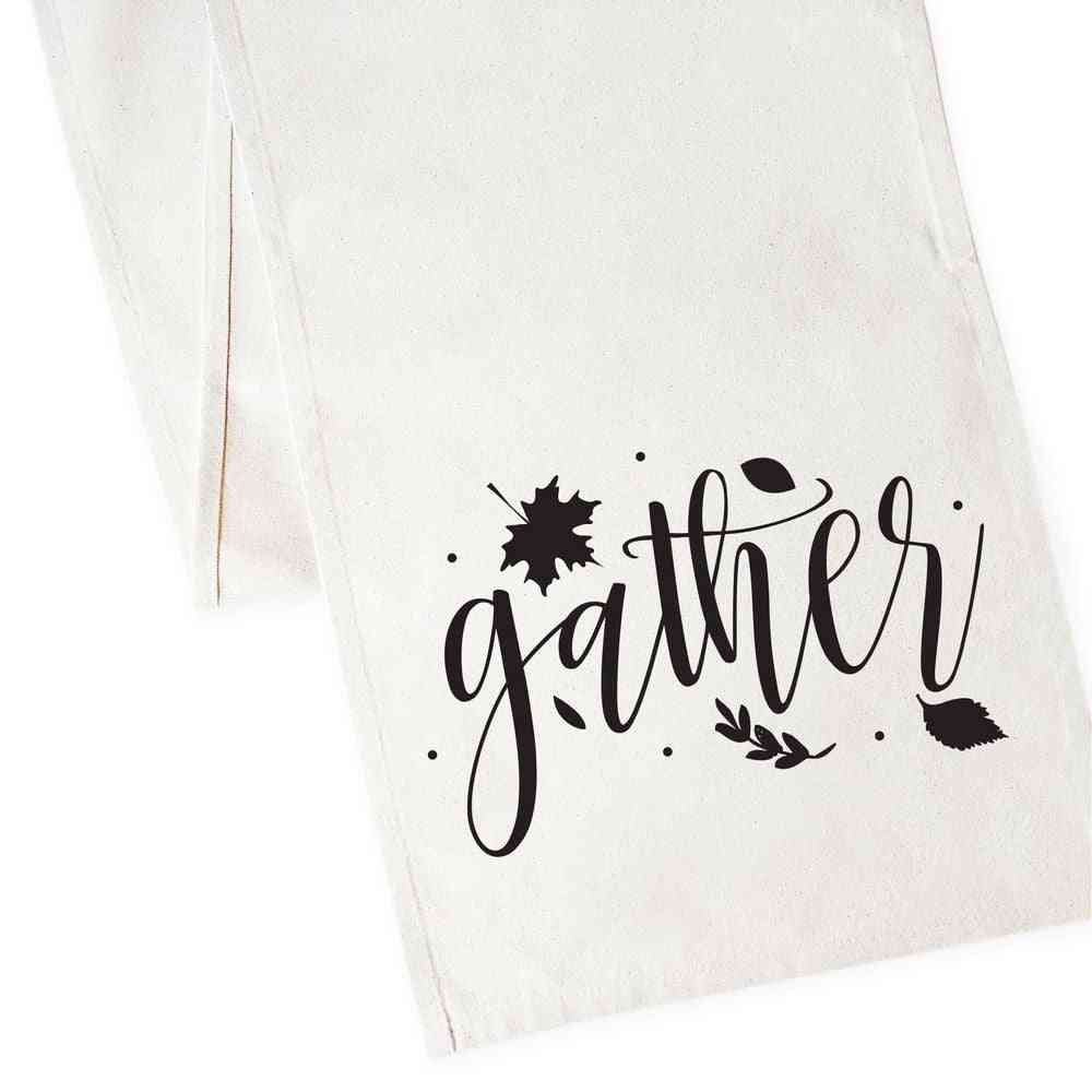 Gather-canvas Table Runner