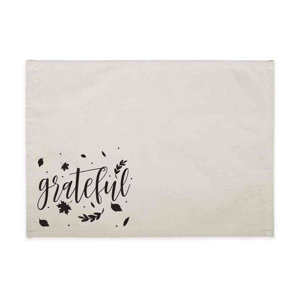 Greatful Printed Cotton Canvas Place Mat