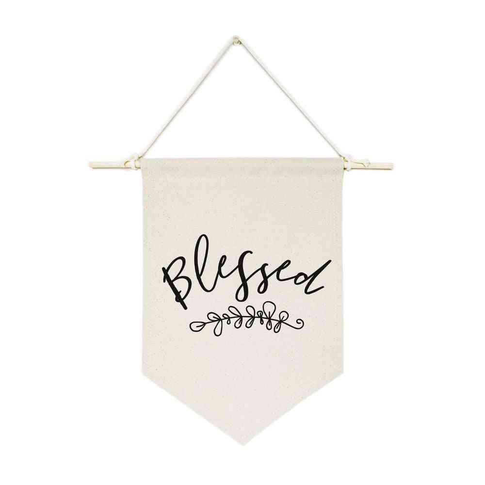 Blessed-hanging Wall Banner