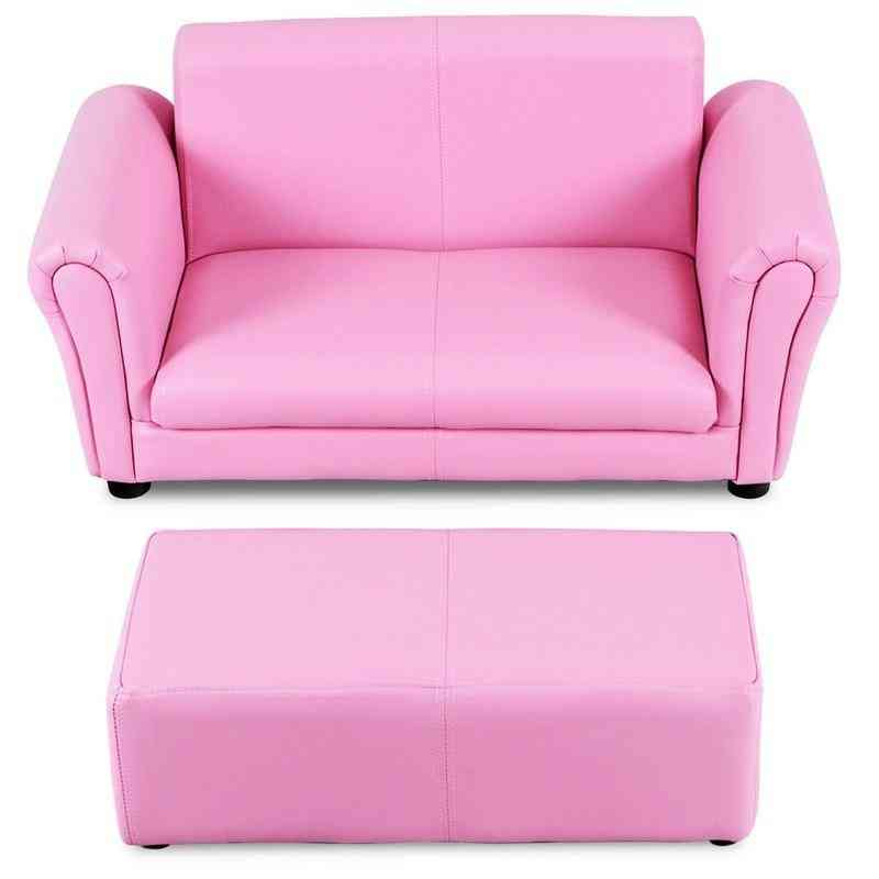 Light Weight Kid's Double Sofa With Ottoman