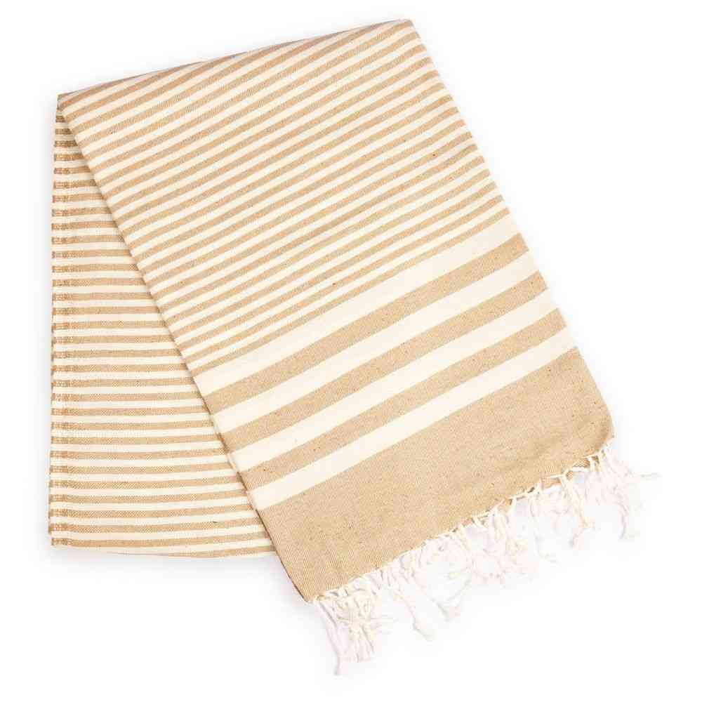 Sandy And Fawn Shade Striped Towel