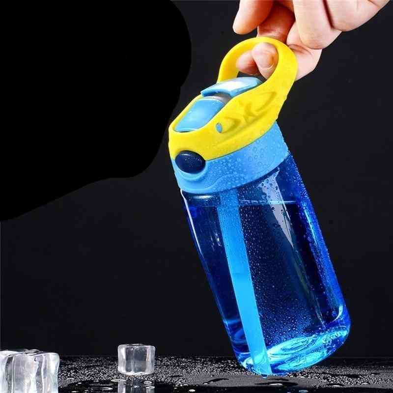 Kids Water Bottle With Straw Lid And Handle