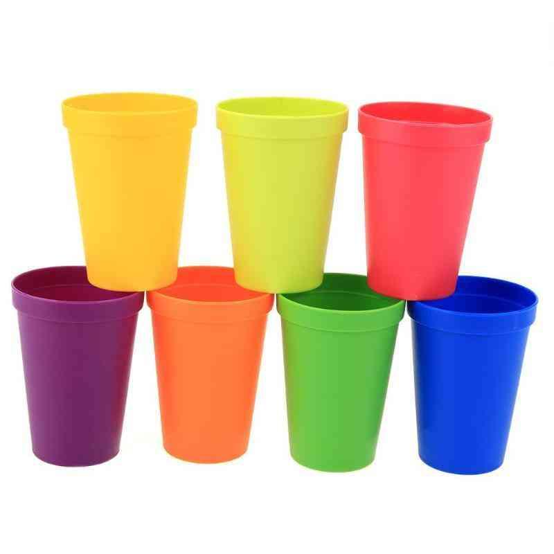 Portable Rainbow Color Cup Set