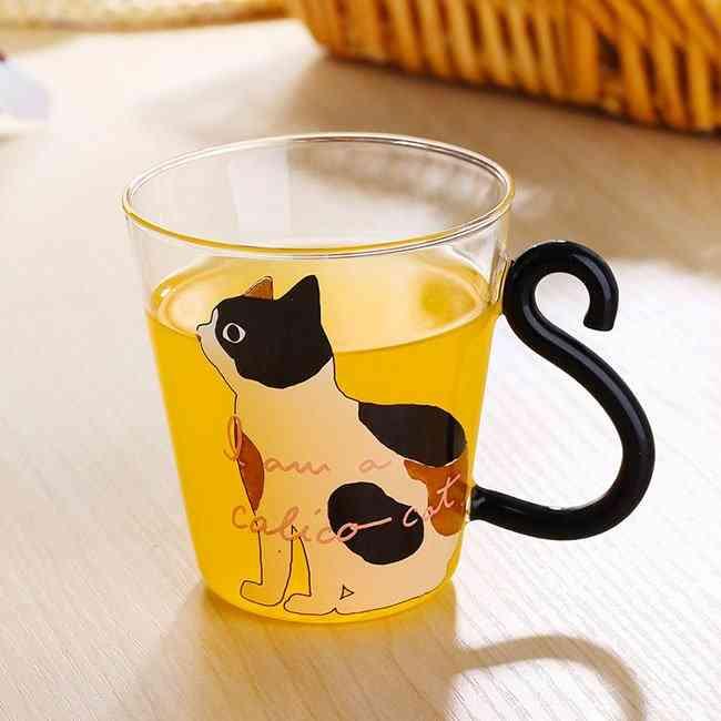 Cat Cartoon Glass Cup