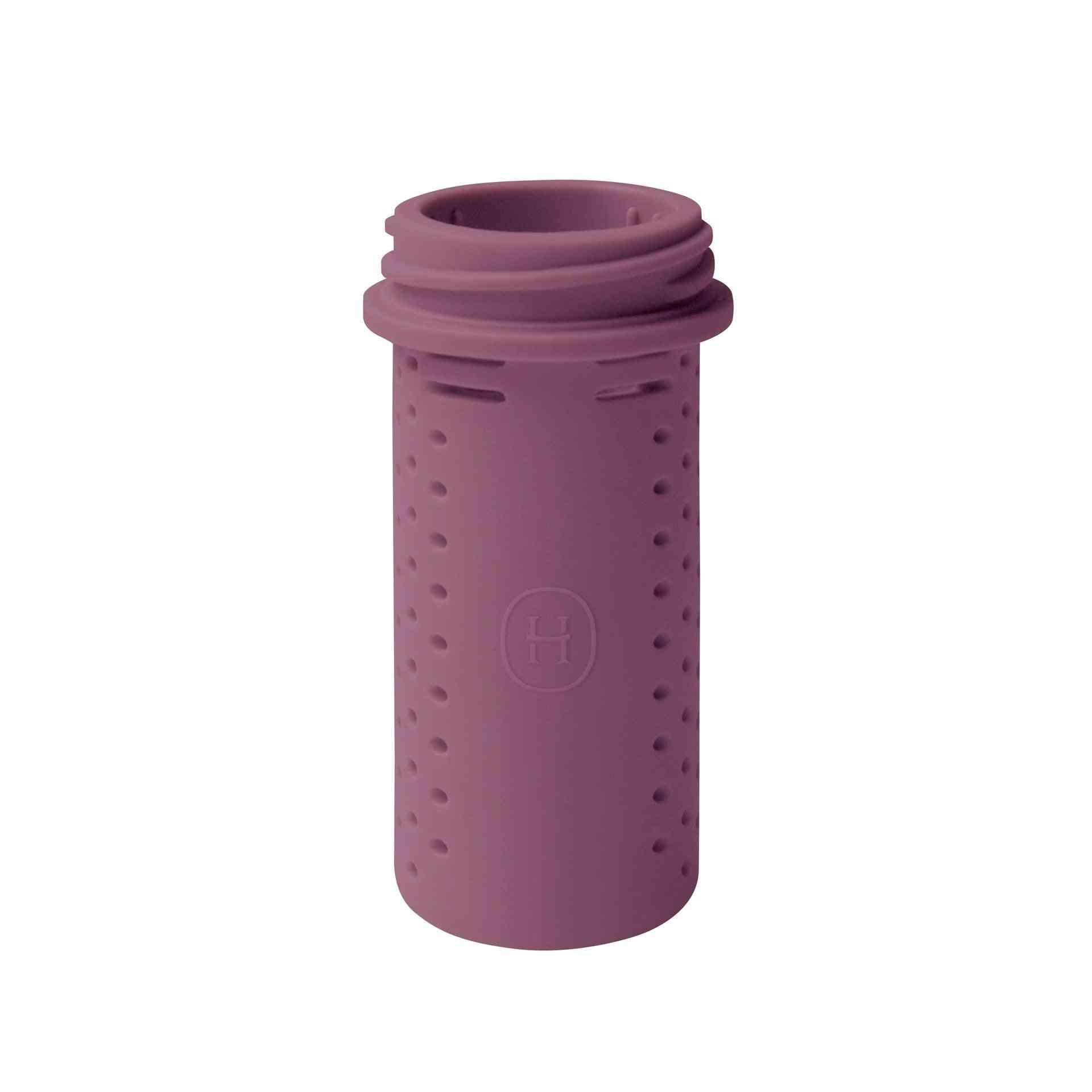 Purple Bottle Shaped Silicone Tea Infuser