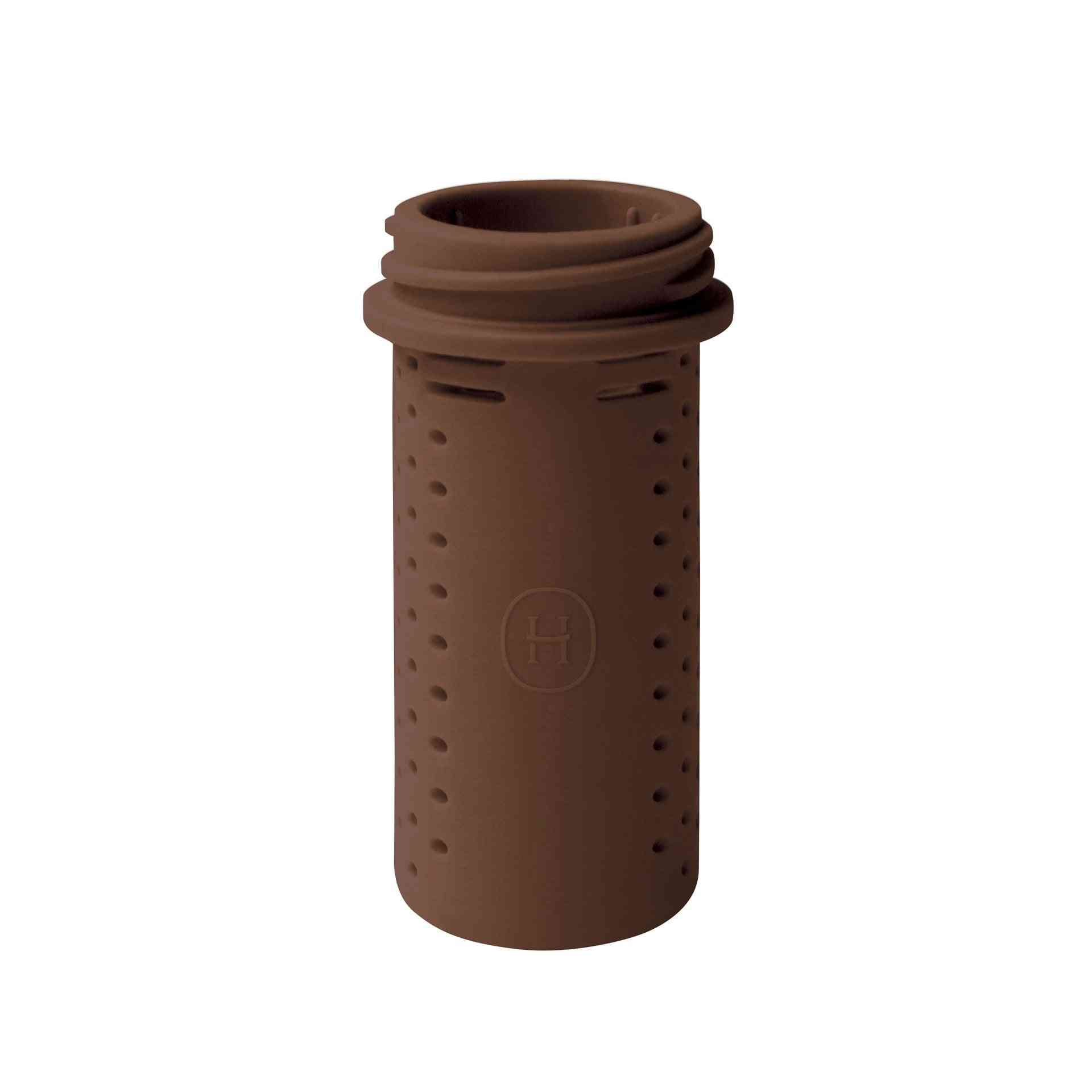 Brown  Bottle Shaped Silicone Tea Infuser