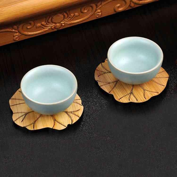 Bamboo Lotus Coasters