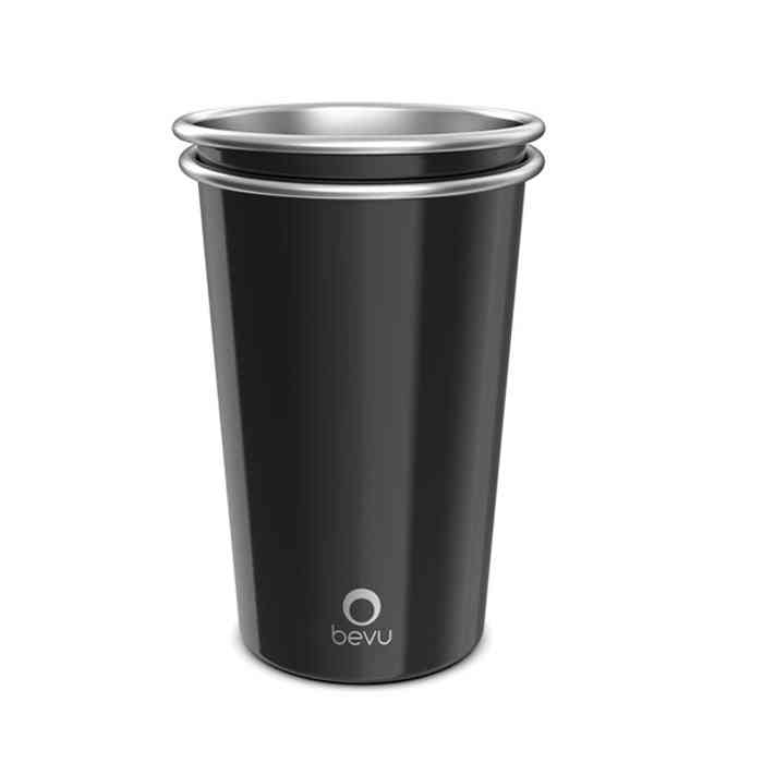 Reusable Stainless Steel Black Cups