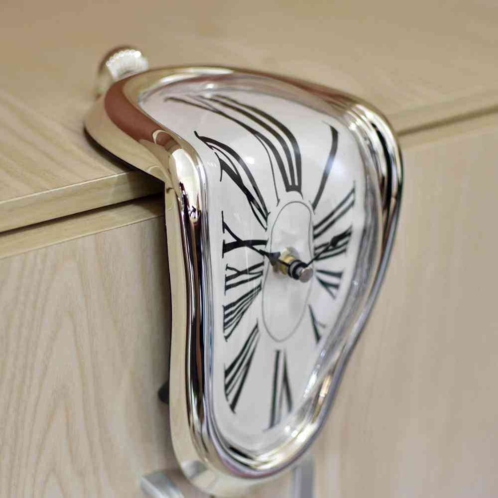Creative Distorted Rectangular Melting Clock
