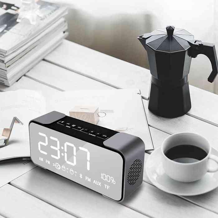 Mirror Bluetooth Speaker Alarm Clock