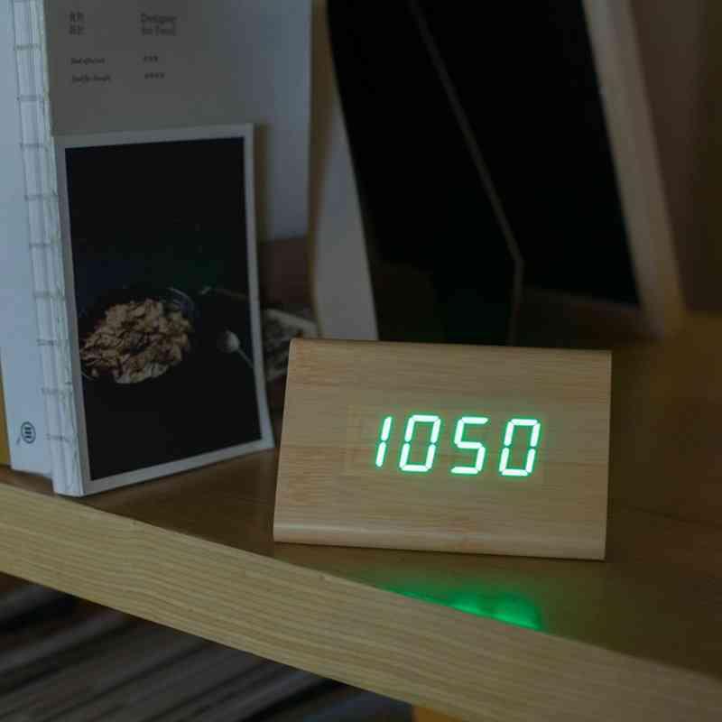 Bamboo Wood Alarm Clock