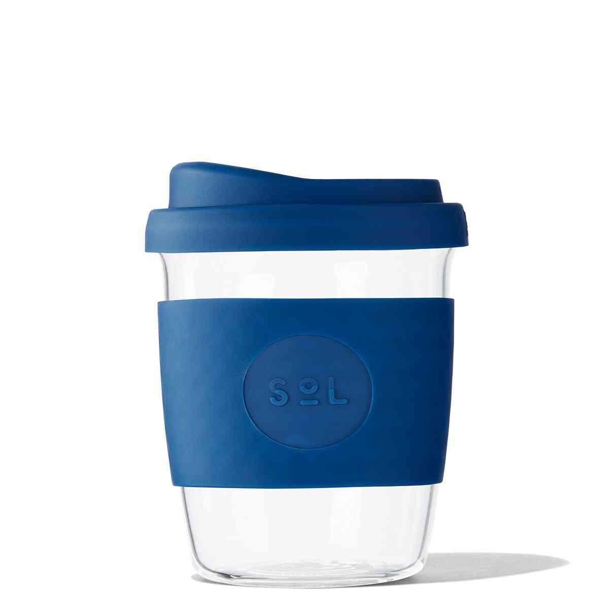 Winter Bondi Blue Glass Travel Tumbler