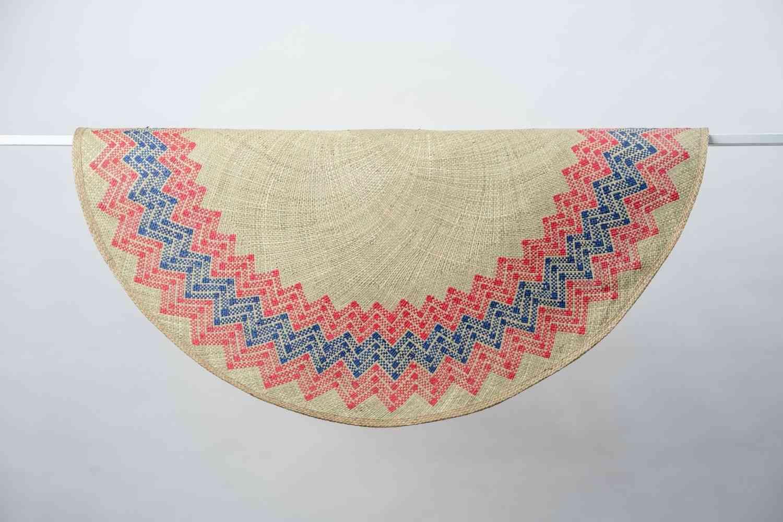 Sunburst Mat-hand Woven Rug