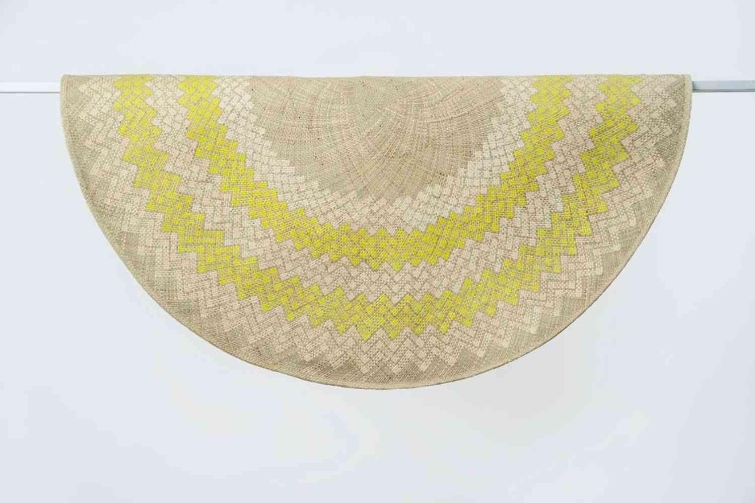 Lime Green Sunburst Mat