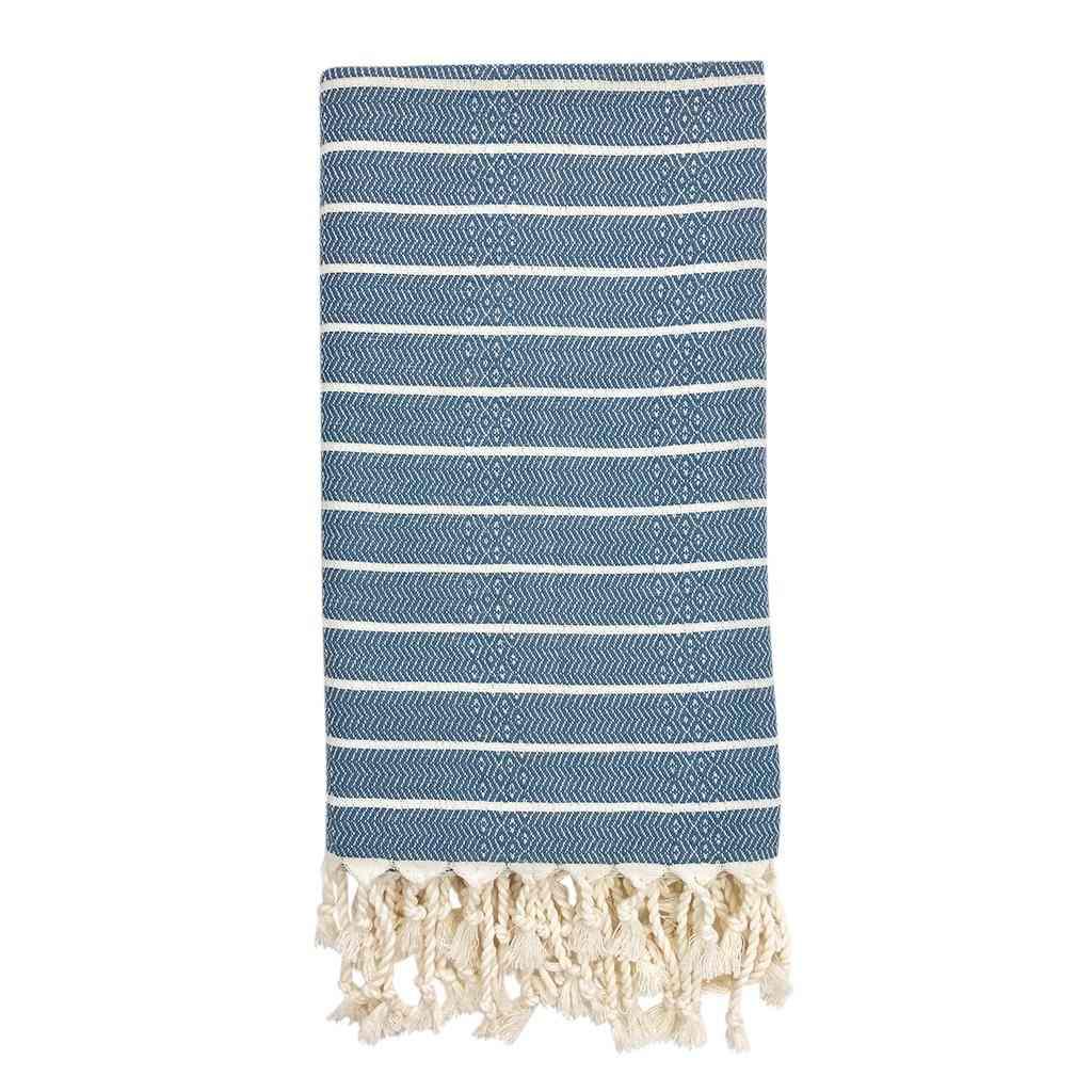 Handcrafted Geo Stripe Towel