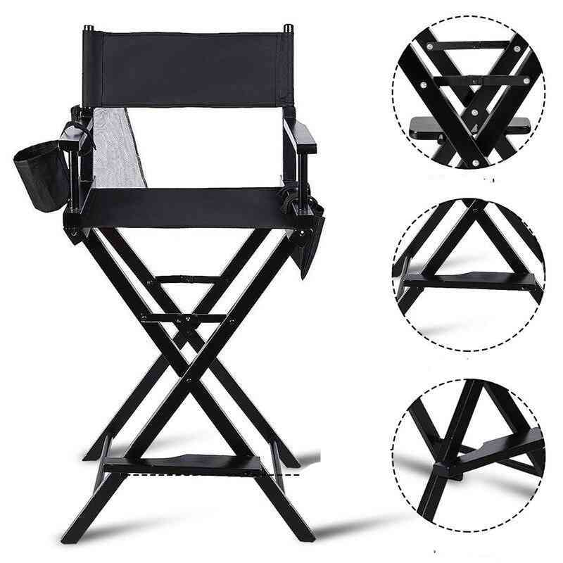 Professional Makeup Artist Foldable Chair, Sturdy Solid Hardwood Frame