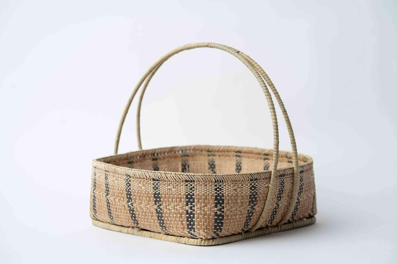 Multi-purpose Handwoven Basket With Handle
