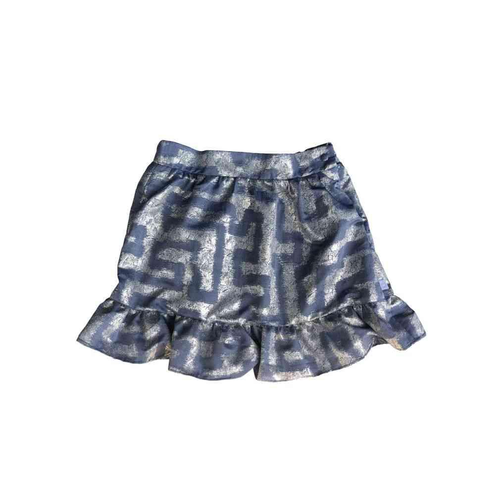 Stylish Metallic Jacquard Skirt