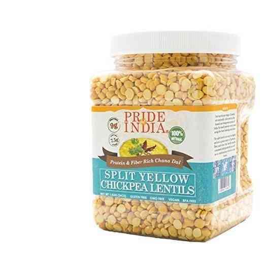 Split Yellow Chickpea Lentils-protein & Fiber Rich Chana Dal